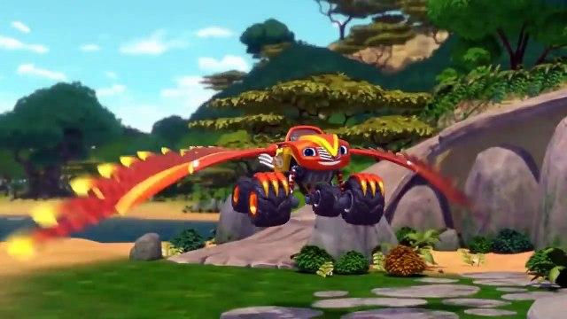 Blaze Power Tires - Blaze & the Monster Machines Transformer Into Falcon