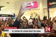 Usaín Bolt en Lima: el 'rayo' cantó, bailó y más en show