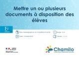 Chamilo - Mettre un ou plusieurs documents à disposition des élèves