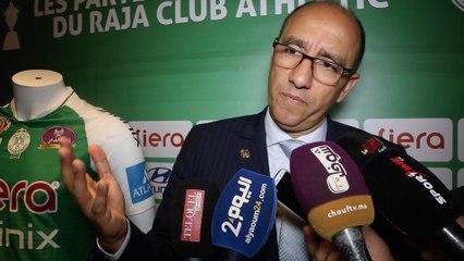جواد الزيات، رئيس الرجاء البيضاوي، ينتقد حصة النقل التلفزيوني للرجاء، ويتحدث عن إغلاق مركب محمد الخامس