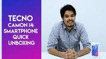 Tecno Camon i4 smartphone quick unboxing