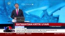 Batman'da baraj gölünde su seviyesi yükseldi