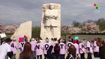 Anti-War Protests At The Martin Luther King Jr. Memorial