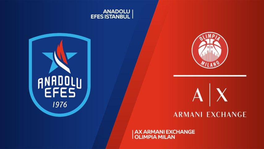 Anadolu Efes Istanbul - AX Armani Exchange Olimpia Milan Highlights | EuroLeague RS Round 30