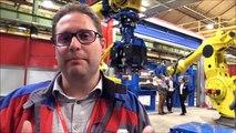 Le Creusot - Alstom inaugure le plus gros robot de soudage du monde ferroviaire