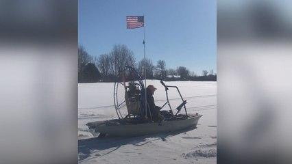 Winter Won't Stop This Kayaker