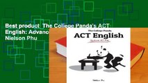 Best product  The College Panda's ACT English: Advanced Guide and Workbook - Nielson Phu
