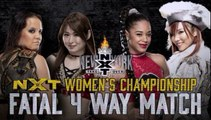 Shayna Baszler (c) vs. Bianca Belair vs. Io Shirai vs. Kairi Sane WWE NXT Women's Title Fatal Four Way Match WWE NXT TakeOver: New York