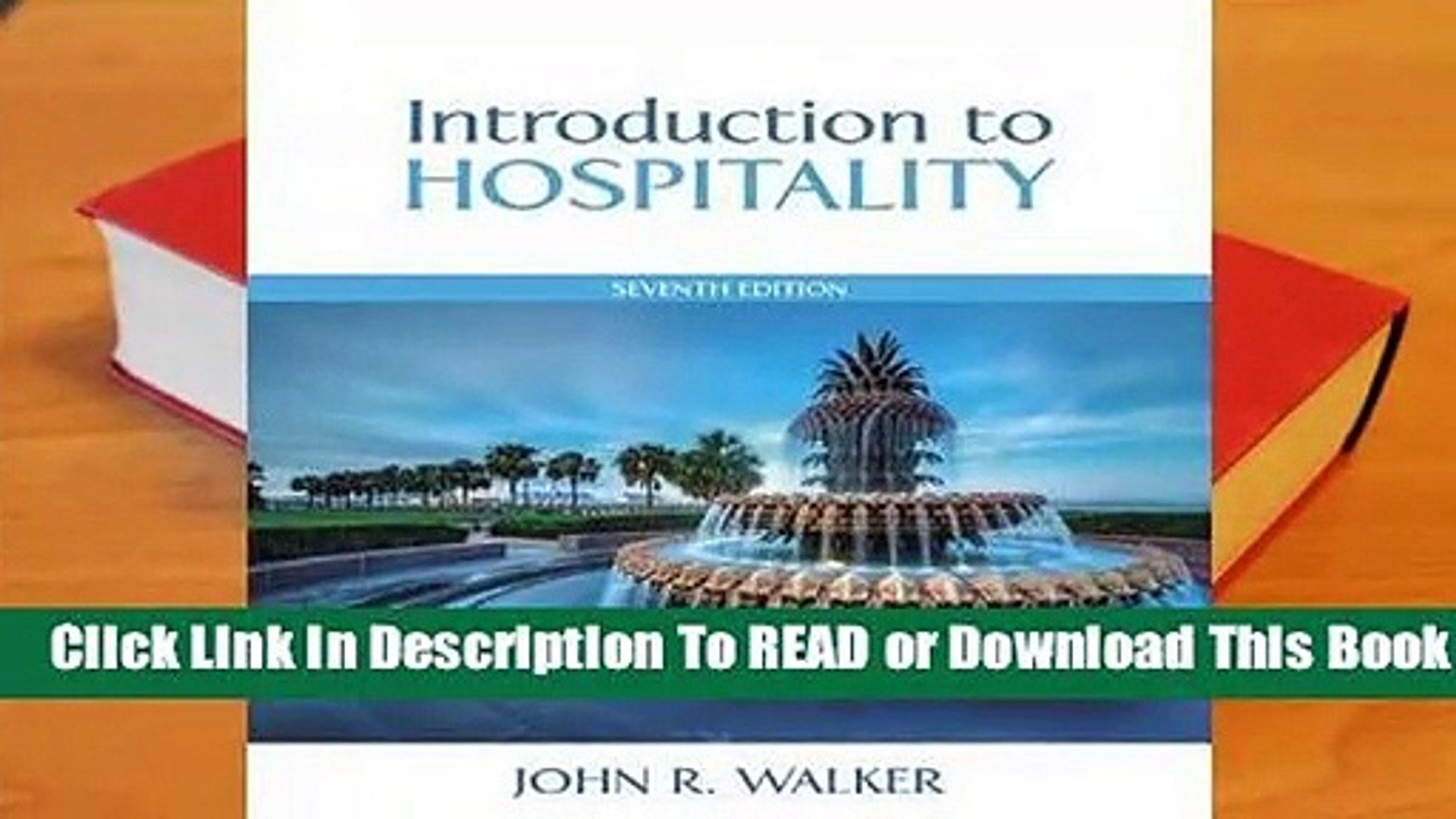 Introduction To Hospitality Book