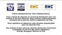 Free et Altice n'ont pas trouvé d'accord de distribution, BFMTV, BFM Business, RMC Story et RMC Découverte ne sont plus disponibles sur Freebox