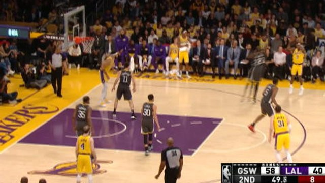 Caruso follows miss with a dunk