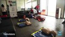 Journée de formation avec l'équipe de GMF assistance:  2 steps to save a life