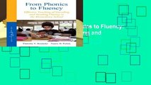 About For Books  From Phonics to Fluency: Effective Teaching of Decoding and Reading Fluency in