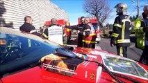 Les pompiers de la Loire et la Haute-Loire se testent sur les risques chimiques chez STTP emballage