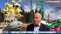 Le 18:18 - Vaucluse : manèges à sensation, cinéma 6D... Pour sa réouverture demain, le parc Spirou fait le plein de nouveautés !