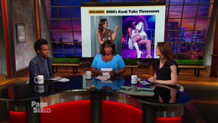 #RHOA star @Kandi Burruss got candid on threesomes, and she held nothing back! Tune in to #PageSixTV to see what she had to say about what happens in the bedroom!