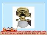 BOSTON HARBOR CF78125 430686 Ceiling Fan Light Kit 1 CFL Lamp Polished 13 in H X 42 in W