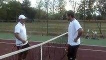 Tennis - Un tennisman qui s'énerve sur le court ça peut donner ça !
