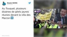 Le Touquet. Environ 80 Gilets jaunes devant la villa du couple Macron