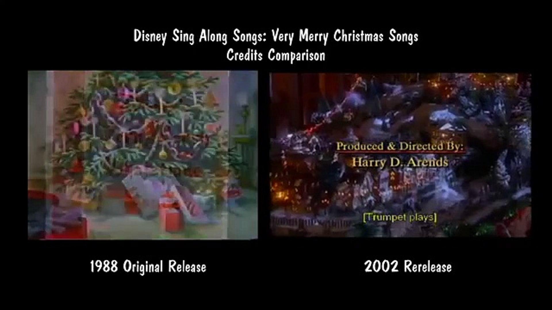 Disney Sing Along Songs Christmas Vhs.Disney Sing Along Songs Very Merry Christmas Songs Credits Comparison