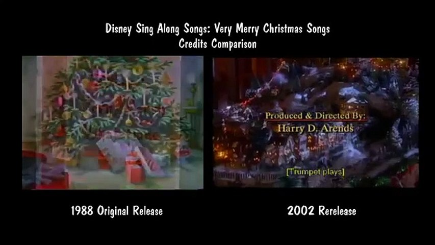Disney Sing Along Songs Very Merry Christmas Songs.Disney Sing Along Songs Very Merry Christmas Songs Credits Comparison