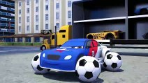 Mettre les boules à la place des roues, voiture de sport, apprendre des choses en anglais