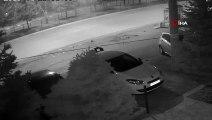 3 kişinin yaralandığı kaza güvenlik kameralarına böyle yansıdı