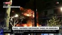 Les images spectaculaires de l'incendie puis de l'explosion cette nuit dans un immeuble parisien du 19e