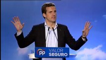"""Casado: """"Vamos a evitar que en España manden los terroristas, los independentistas y los comunistas"""""""
