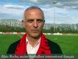 Alain Roche sur la pelouse du stade Robert-Bobin à Dole