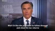 Mitt Romney Calls Democrats Chasing Trump's Tax Returns Through Legislation 'Moronic'