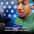 Le capitaine des U19 de l'ASSE, Kenny Rocha-Santos débrieffe la demi-finale remportée face à Bordeaux en Gambardella