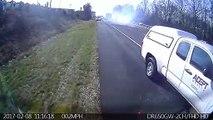 Un camion sans frein percute plusieurs voitures sur une autoroute