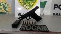 Pistola 9mm é apreendida pela Rocam no Brasília
