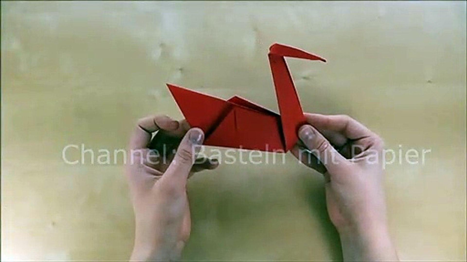 Origami Schwan Basteln Mit Papier Bastelideen Tiere Falten Mit Kindern