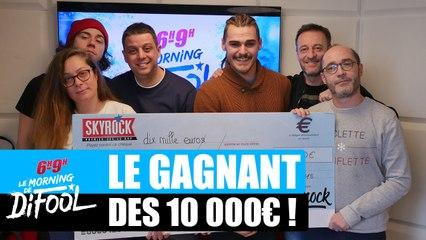 Vincent repart avec son chèque de 10 000€ ! #MorningDeDifool