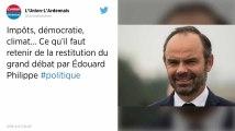 Grand débat. «Baisse des impôts», démocratie, 80km/h… Ce qu'il faut retenir du discours d'Édouard Philippe