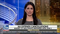 Fox Business with Tracee Carrasco speaks on AA Extends cancellations, Boeing 737 Max flights grounded until June 5. @CarrascoTV #News #Boeing #FoxNews