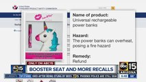 Booster seat and more recalls