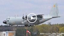 Lockheed KC-130H Hercules - Spanish Air Force TK.10-11 (31-53) - arrival at Manching Air Base [2160p25]