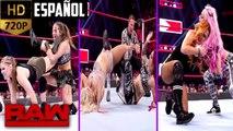 WWE Raw: Lucha de Reto Contra el Reloj - Ronda Rousey vs. Charlotte Flair vs. Becky Lynch | Español Latino HD