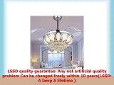 Luxury Modern Crystal Chandelier Ceiling Fan Lamp Folding Ceiling Fans With Lights Chrome