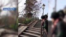 Il descend Montmartre à VTT - VTT - Extrême