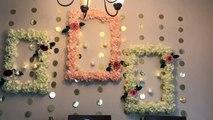 DIY- wall decor |DIY dollar tree decor|DIY wedding decor| DIY- Wedding frame wreath|Foam board decor
