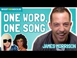 James Morrison performs songs by Lady Gaga and Cher in a game of song association