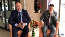 Visite du ministre Stéphane Travert à Marseillan