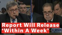 Attorney General William Barr Says Mueller Report Should Be Released Within A Week