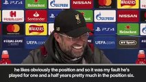 (Subtitled) 'Sorry for playing Henderson as No. 6!' - Klopp