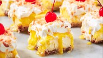 We Can't Stop Eating These Piña Colada Cheesecake Bars
