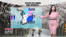 Spring cold snap under murky skies, snow in Gangwon-do Province